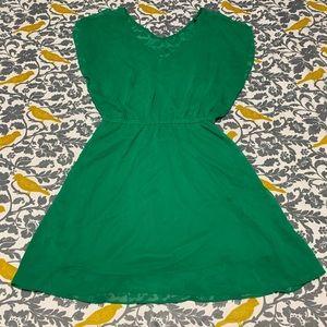 Express Green Chiffon Layered Mini Dress EUC Sz M